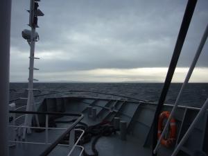 Cruzando el Estrecho de Magallanes