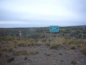 Campo minado camino a Pto. Natales