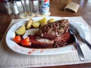 Último bife chorizo (a la pimienta) antes de volver a Chile
