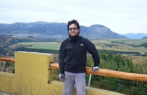En el mirador hacia Coyhaique
